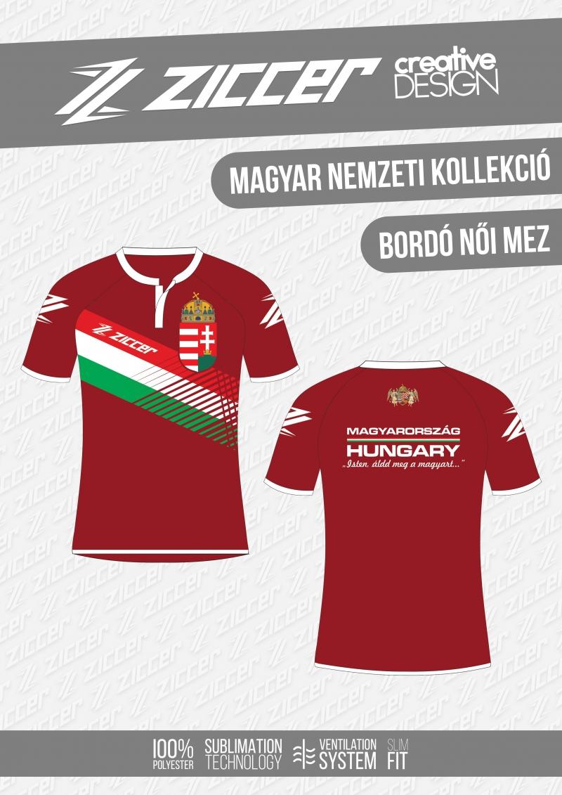 0d7ced5cdf Magyar Trikolór Női mez bordó | Sport World Pro nagykereskedelmi ...