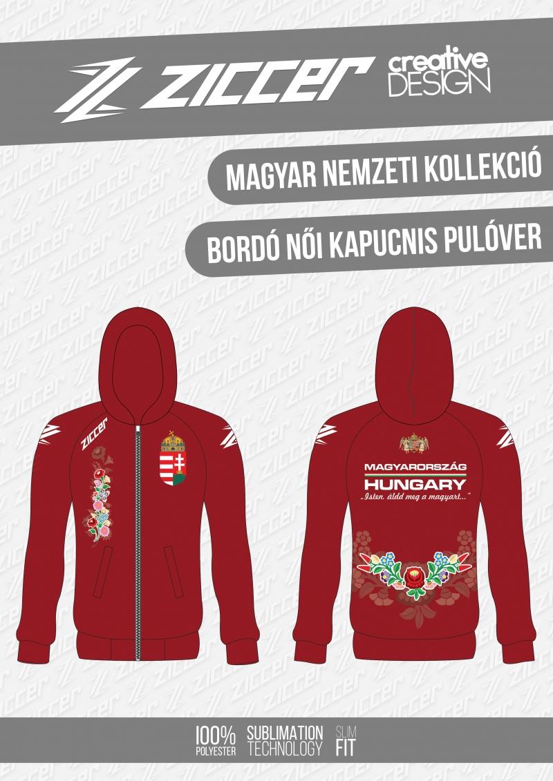 039cd0964b Magyar Virágmintás Női kapucnis pulóver bordó | Sport World Pro ...